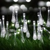 30 LED Solar Power Water Drop Fairy String Light for Outdoor Garden Xmas Party Decor Cool White Colour