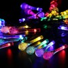 30 LED Solar Power Water Drop Fairy String Light for Outdoor Garden Xmas Party Decor Multi Colour