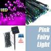 50 LED 5.2M Solar Powered String Fairy Light Lamp for Garden Path Chirstmas Outdoor Pink Colour
