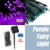 50 LED 5.2M Solar Powered String Fairy Light Lamp for Garden Path Chirstmas Outdoor Purple Colour