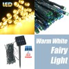 50 LED 5.2M Solar Powered String Fairy Light Lamp for Garden Path Chirstmas Outdoor Yellow Colour