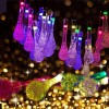 30 LED Solar Power Water Drop Fairy String Light for Outdoor Garden Xmas Party Decor Blue Colour