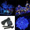 200 LED Solar Powered Fairy Light String for Garden Party Wedding Xmas Decor Blue Colour