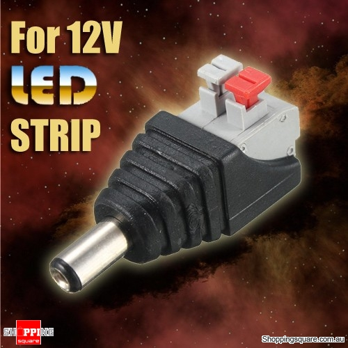 DC Power Male 5.5X 2.1mm Connector Adapter Plug Cable Pressing for 12V LED Strips