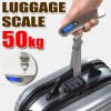 50 KG Portable Digital Electronic Luggage Scale for Travel Measures Weight Silver Colour
