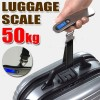 50 KG Portable Digital Electronic Luggage Scale for Travel Measures Weight Black Colour