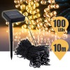 100 LED Solar Powered String Light for Outdoor Party Christmas Wedding Warm White Colour