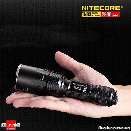 Nitecore TM03 CREE XHP70 2800LM Tactical LED Flashlight With 1 X 18650 Battery