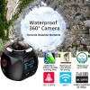 4K HD 360 Degree Panoramic Wifi Camera 2448x2448 for Sport Driving Black Colour