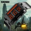 SKMEI 1179 Men's Waterproof LED Sport Casual Electronic Digital Watch with Steel Strip Black Colour