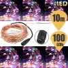 10M 100 LED DC12V Copper Wire  String Fairy Light Waterproof Party Xmas Wedding Multicoloured