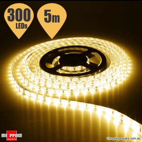5M Waterproof IP65 SMD 5630 300 LED DC12V Strip Light Decor Warm White Colour