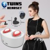 Bluetooth Earpods with Charging Dock - suitable for iPhone, Android and Windows Phone - Red