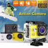 HD 1080P Waterproof Sports Action Video Camera DV with 2 Inch LCD Yellow Colour