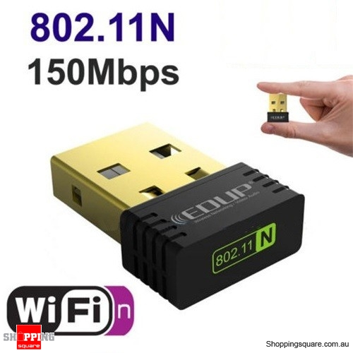 Wireless Mini Sized WiFi N USB Dongle 802.11n Adapter for Win / Mac / Linux