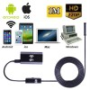 1M 6LED Waterproof WiFi  Snake Tube Borescope Endoscope with Camera for Inspection iPhone Android