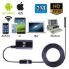 2M 6LED Waterproof WiFi  Snake Tube Borescope Endoscope with Camera for Inspection iPhone Android