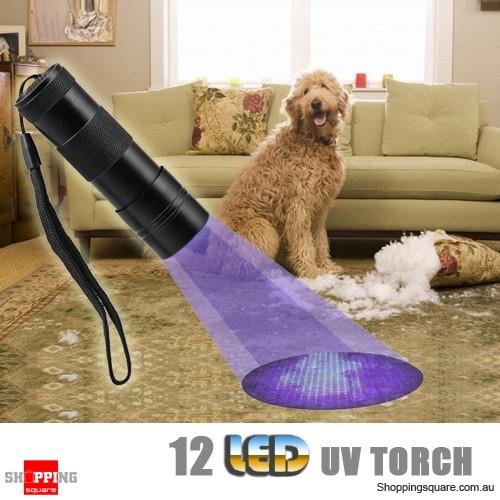 12 LED UV Ultra Violet Torch  Blacklight Flashlight with Nylon Wristband Strap