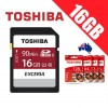 Toshiba Exceria 16GB SDHC SDXC Memory Card UHS-I U1 4K FHD Up to 90MB/s