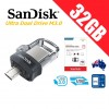 SanDisk Ultra Dual Drive M3.0 32GB SDDD3 USB 3.0 OTG Flash Drive Memory 150MB/s Smartphone Tablet PC