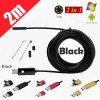 2M 6LED USB Waterproof Endoscope Borescope with HD Camera for Inspection Android PC Black Colour