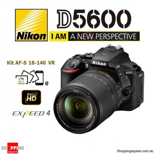 Nikon D5600 Kit AF-S 18-140 ED VR Digital Camera Body Black DSLR 24.2MP Full HD