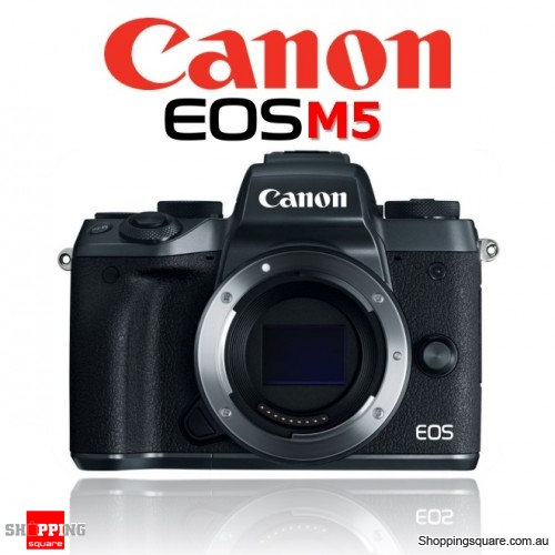 Canon EOS M5 Mirrorless Digital Camera Body DSLR 24.2MP Full HD Black