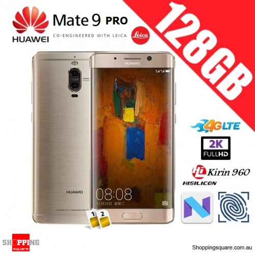 Huawei Mate 9 Pro 128GB LON-L29 Unlocked Smart Phone Haze Gold