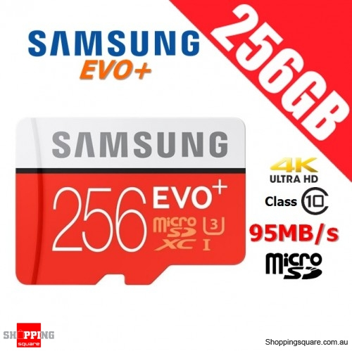 Samsung 256GB EVO Plus micro SD SDXC Card Class 10 95MB/s UHS-I U3 4K Ultra HD Smartphone Tablet