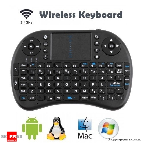 Mini 2.4G Wireless Keyboard with Touchpad Air Mouse for PC Mac Android TV