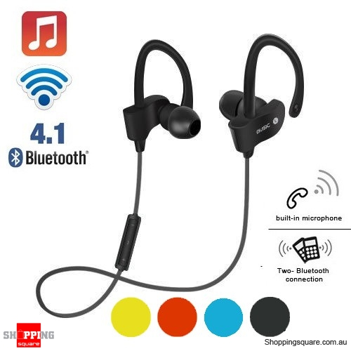 Wireless Bluetooth V4.1 SPORT Stereo Headset for iPhone Samsung LG Black Colour