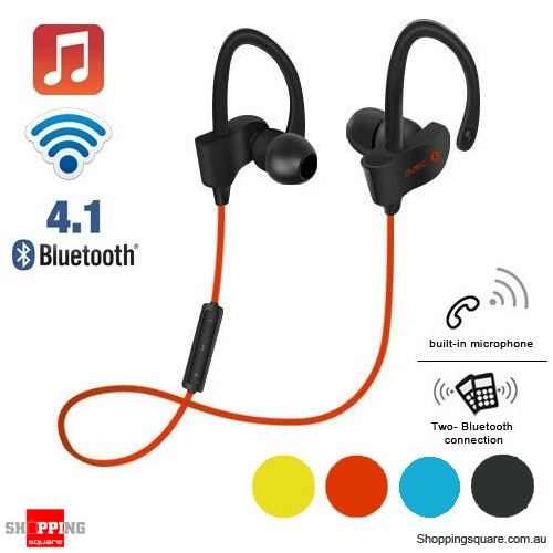 Wireless Bluetooth V4.1 SPORT Stereo Headset for iPhone Samsung LG Red Colour