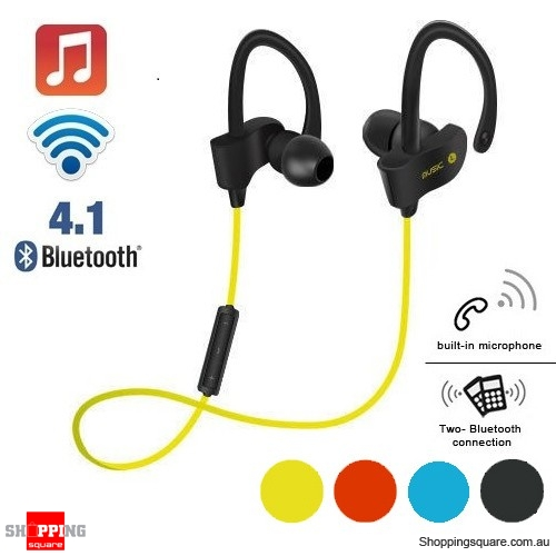 Wireless Bluetooth V4.1 SPORT Stereo Headset for iPhone Samsung LG Yellow Colour