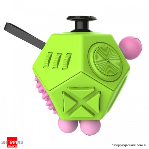 12-side Fidget kick Cubes Anxiety Stress Relief Dice Toy For Adult Kid Green Colour