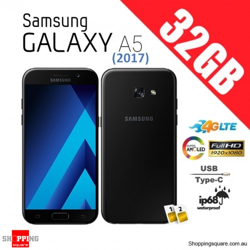 samsung galaxy a5 2017 32gb dual sim a520fd 4g lte unlocked smart phone black sky online