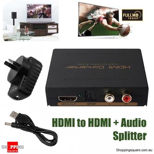 HDMI + Optical SPDIF +RCA L/R to HDMI Audio Extractor Converter Adapter  Splitter - Shoppingsquare Australia