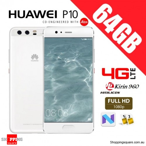 Huawei P10 64GB VTR-L29 Dual Sim 4G LTE Unlocked Smart Phone Ceramic White