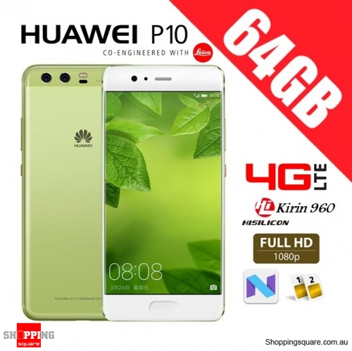 Huawei P10 64GB VTR-L29 Dual Sim 4G LTE Unlocked Smart Phone Greenery