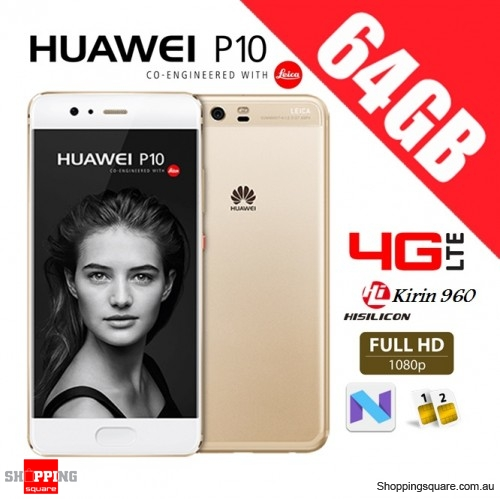 Huawei P10 64GB VTR-L29 Dual Sim 4G LTE Unlocked Smart Phone Prestige Gold