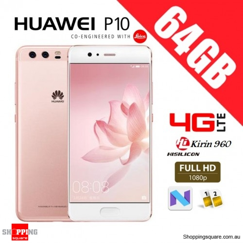 Huawei P10 64GB VTR-L29 Dual Sim 4G LTE Unlocked Smart Phone Rose Gold