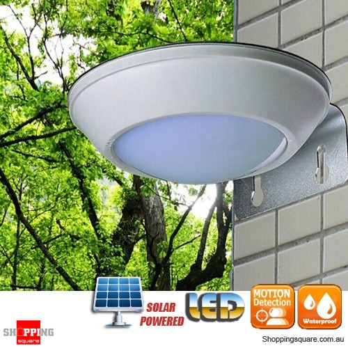 16 LED Solar Powered Outdoor Lamp Light with Microwave Radar Motion Sensor for Patio Home Yard Garden Wall 2 Modes