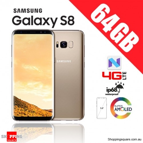 Samsung Galaxy S8 64GB Dual Sim 4G LTE Unlocked Smart Phone Maple Gold