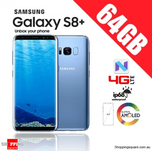 Samsung Galaxy S8 Plus 64GB Dual Sim 4G LTE Unlocked Smart Phone Coral Blue