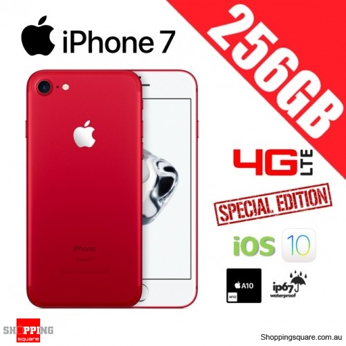 Apple iPhone 7 256GB 4G LTE Unlocked Smart Phone Red (Special Edition)