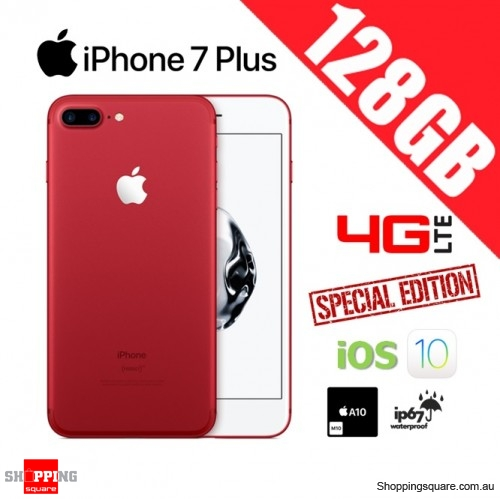 Apple iPhone 7 Plus 128GB 4G LTE Unlocked Smart Phone Red (Special Edition)