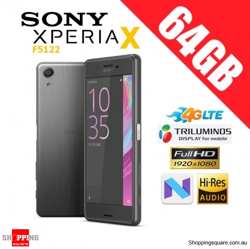 Sony Xperia X F5122 Dual Sim 4G LTE 64GB Unlocked Smart Phone Graphite Black