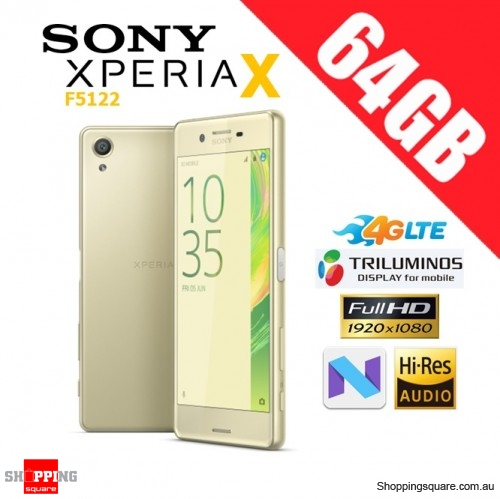 Sony Xperia X F5122 Dual Sim 4G LTE 64GB Unlocked Smart Phone Lime Gold