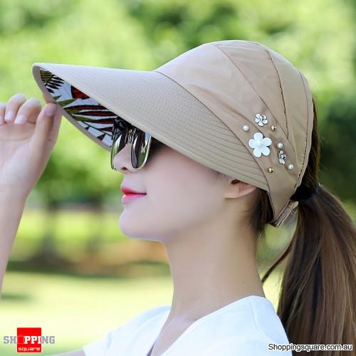 Women s Ladies  Summer Outdoor Anti-UV Beach Sunscreen Sun Hat Cap  Watermelon Khaki Colour - Online Shopping   Shopping Square.COM. a17841312d0c