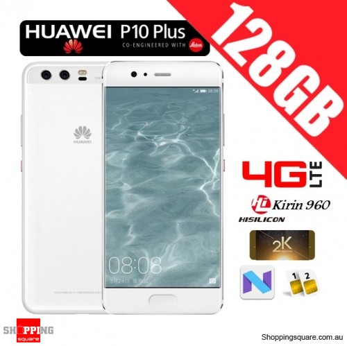 Huawei P10 Plus 128GB VKY-L29 Dual Sim 4G LTE Unlocked Smart Phone Ceramic White