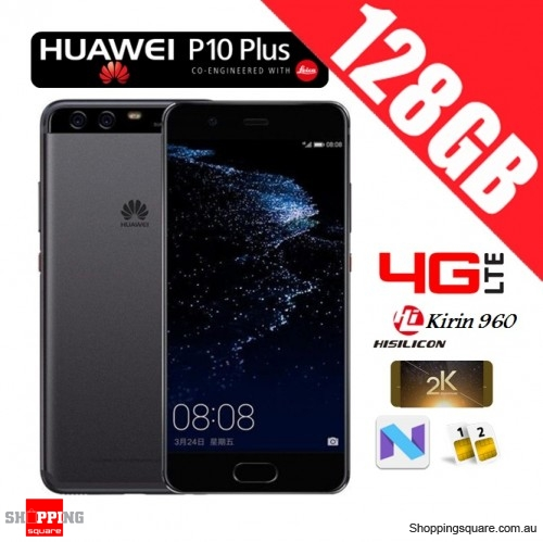 Huawei P10 Plus 128GB VKY-L29 Dual Sim 4G LTE Unlocked Smart Phone Graphite Black